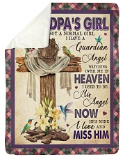 Angel - Grandpa - I'm Not A Normal Girl  Sherpa Fleece Blanket tile