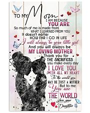 TO MY MOM - MY LOVING MOTHER 16x24 Poster front