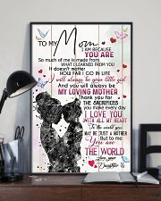 TO MY MOM - MY LOVING MOTHER 16x24 Poster lifestyle-poster-2
