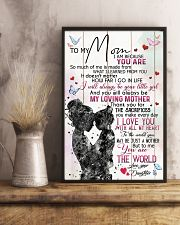 TO MY MOM - MY LOVING MOTHER 16x24 Poster lifestyle-poster-3