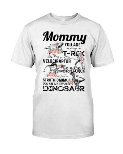 T-SHIRT - TO MOM - DINOS - FAVORITE DINOSAUR