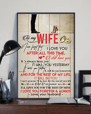 TO MY WIFE - COUPLE - I LOVE YOU 16x24 Poster lifestyle-poster-2