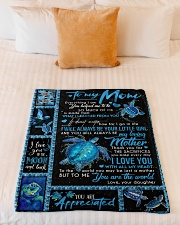 "TO MY MOM - TURTLE - YOU ARE APPRECIATED Small Fleece Blanket - 30"" x 40"" aos-coral-fleece-blanket-30x40-lifestyle-front-04"