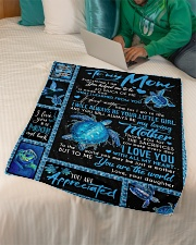 "TO MY MOM - TURTLE - YOU ARE APPRECIATED Small Fleece Blanket - 30"" x 40"" aos-coral-fleece-blanket-30x40-lifestyle-front-07"