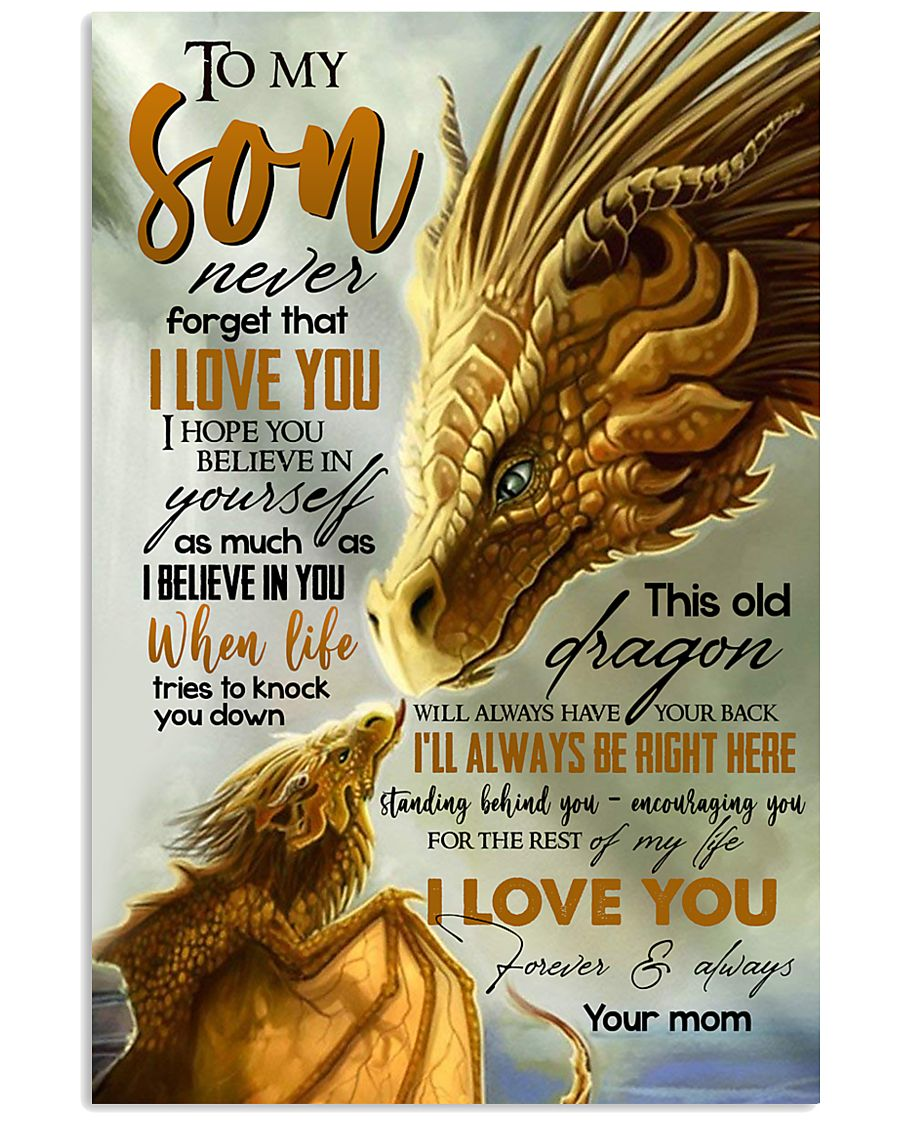 MOM TO SON - YELLOW - FOREVER 16x24 Poster