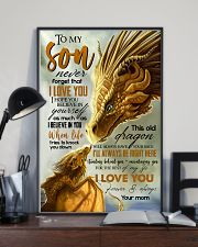 MOM TO SON - YELLOW - FOREVER 16x24 Poster lifestyle-poster-2