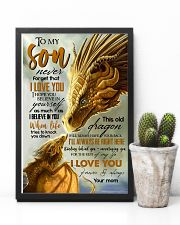 MOM TO SON - YELLOW - FOREVER 16x24 Poster lifestyle-poster-8