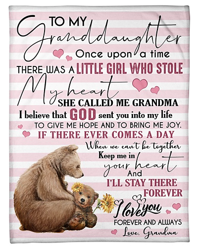 BLANKET - TO MY GRANDDAUGHTER - BEAR - ONCE