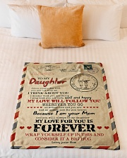 """To Daughter - You Are Not With me Small Fleece Blanket - 30"""" x 40"""" aos-coral-fleece-blanket-30x40-lifestyle-front-04"""