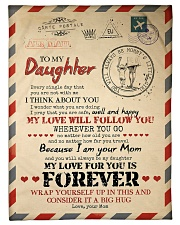 """To Daughter - You Are Not With me Small Fleece Blanket - 30"""" x 40"""" front"""