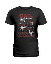 T-SHIRT - DAD - FAVORITE DINOSAUR Ladies T-Shirt thumbnail