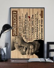 To Granddaughter - You Are The Beat Of My Heart 16x24 Poster lifestyle-poster-2