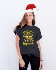 Just an aunt who loves elephants Classic T-Shirt lifestyle-holiday-crewneck-front-1