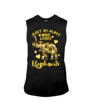 Just an aunt who loves elephants Sleeveless Tee thumbnail
