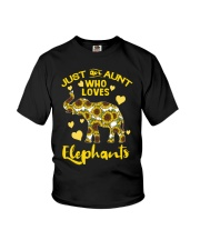 Just an aunt who loves elephants Youth T-Shirt thumbnail
