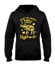 Just an aunt who loves elephants Hooded Sweatshirt thumbnail