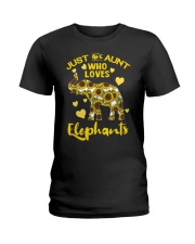 Just an aunt who loves elephants Ladies T-Shirt thumbnail
