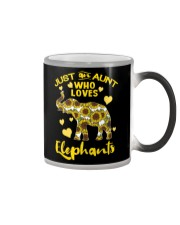 Just an aunt who loves elephants Color Changing Mug thumbnail