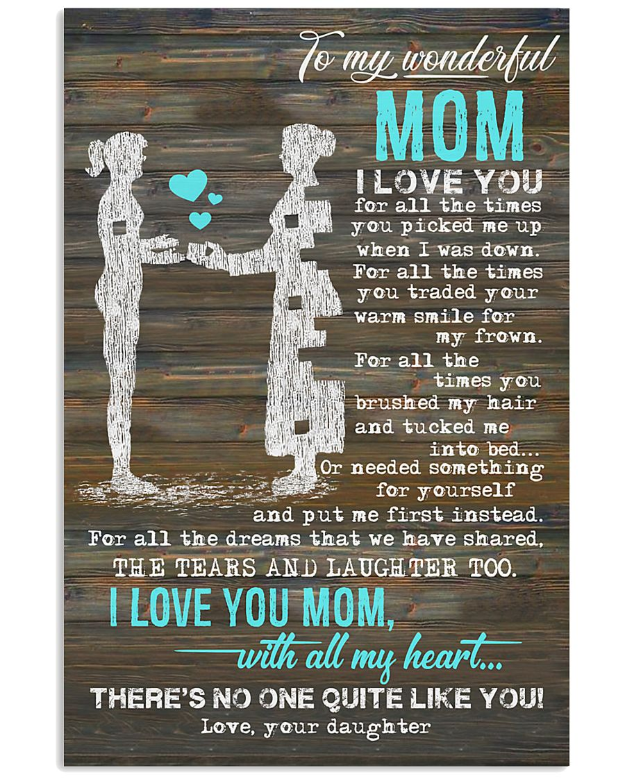 POSTER - TO MY MOM - PIECE - I LOVE YOU 16x24 Poster