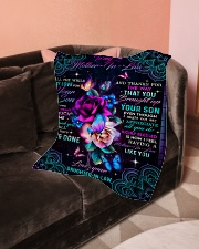 "To My Mother-in-law - Fleece Blanket Small Fleece Blanket - 30"" x 40"" aos-coral-fleece-blanket-30x40-lifestyle-front-05"