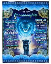Grandpa to Grandaughter - I Love You Fleece Blanket tile