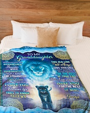 """Grandpa to Grandaughter - I Love You Large Fleece Blanket - 60"""" x 80"""" aos-coral-fleece-blanket-60x80-lifestyle-front-02"""
