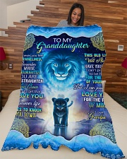 """Grandpa to Grandaughter - I Love You Large Fleece Blanket - 60"""" x 80"""" aos-coral-fleece-blanket-60x80-lifestyle-front-04"""