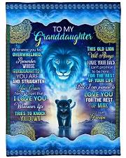 "Grandpa to Grandaughter - I Love You Large Fleece Blanket - 60"" x 80"" front"