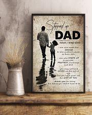 To My Bonus Dad - Poster 16x24 Poster lifestyle-poster-3