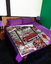 "Christmas - I Am Always With You - Fleece Blanket Large Fleece Blanket - 60"" x 80"" aos-coral-fleece-blanket-60x80-lifestyle-front-01"