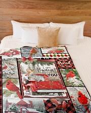 "Christmas - I Am Always With You - Fleece Blanket Large Fleece Blanket - 60"" x 80"" aos-coral-fleece-blanket-60x80-lifestyle-front-02"