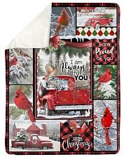 """Christmas - I Am Always With You - Fleece Blanket Large Sherpa Fleece Blanket - 60"""" x 80"""" thumbnail"""