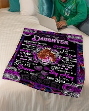 """To My Daughter - Queen And Princess - Whenever Small Fleece Blanket - 30"""" x 40"""" aos-coral-fleece-blanket-30x40-lifestyle-front-07"""