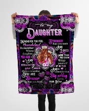 """To My Daughter - Queen And Princess - Whenever Small Fleece Blanket - 30"""" x 40"""" aos-coral-fleece-blanket-30x40-lifestyle-front-14"""