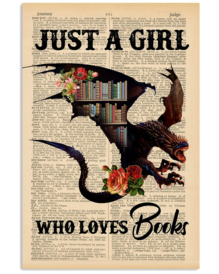 POSTER- BOOK DRAGON - JUST A GIRL 16x24 Poster