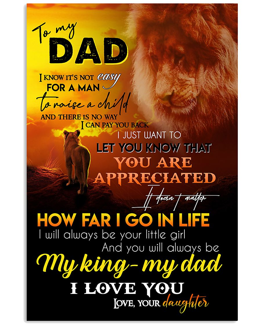 TO MY DAD - LION - I LOVE YOU 16x24 Poster