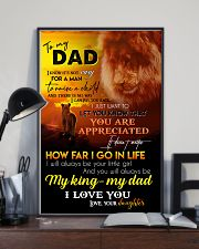 TO MY DAD - LION - I LOVE YOU 16x24 Poster lifestyle-poster-2