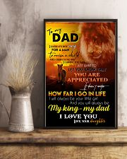 TO MY DAD - LION - I LOVE YOU 16x24 Poster lifestyle-poster-3
