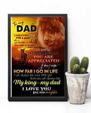 TO MY DAD - LION - I LOVE YOU 16x24 Poster lifestyle-poster-8