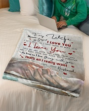 """To My Wife - Never Forget Taht I love You  Small Fleece Blanket - 30"""" x 40"""" aos-coral-fleece-blanket-30x40-lifestyle-front-07"""