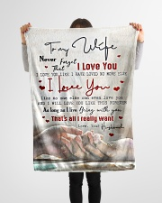 """To My Wife - Never Forget Taht I love You  Small Fleece Blanket - 30"""" x 40"""" aos-coral-fleece-blanket-30x40-lifestyle-front-14"""