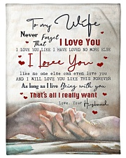 """To My Wife - Never Forget Taht I love You  Small Fleece Blanket - 30"""" x 40"""" front"""