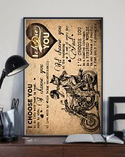 To Wife - Motorcycling - I Choose You - Poster  16x24 Poster lifestyle-poster-2