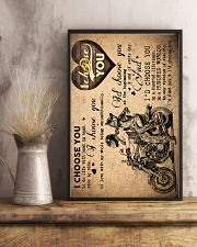 To Wife - Motorcycling - I Choose You - Poster  16x24 Poster lifestyle-poster-3