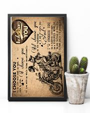 To Wife - Motorcycling - I Choose You - Poster  16x24 Poster lifestyle-poster-8