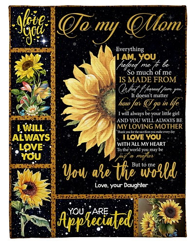 TO MY MOM - SUNFLOWER - YOU ARE APPRECIATED