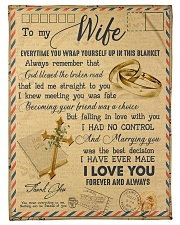To My Wife - Letter - Everytime You Wrap Yourself  Fleece Blanket tile