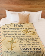 "To My Wife - Letter - Everytime You Wrap Yourself  Large Fleece Blanket - 60"" x 80"" aos-coral-fleece-blanket-60x80-lifestyle-front-02"