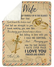 "To My Wife - Letter - Everytime You Wrap Yourself  Large Sherpa Fleece Blanket - 60"" x 80"" thumbnail"