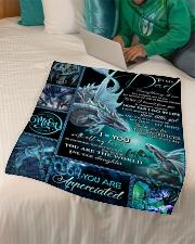 "FLEECE BLANKET - TO MY DAD - DRAGON Small Fleece Blanket - 30"" x 40"" aos-coral-fleece-blanket-30x40-lifestyle-front-07"